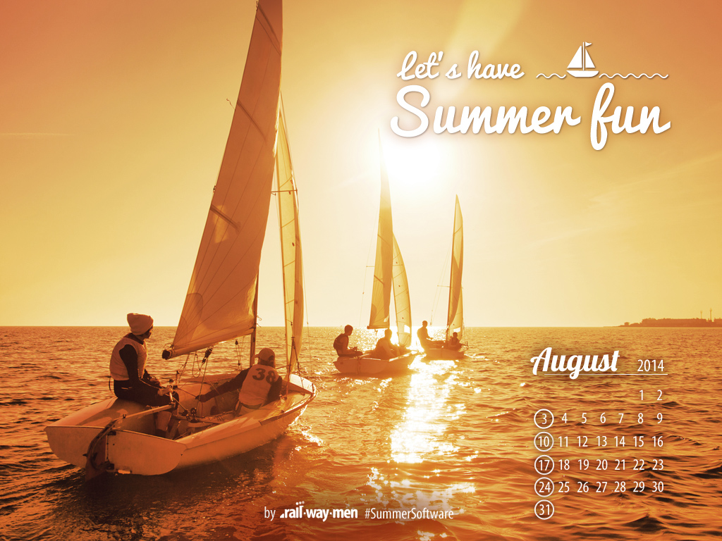 Railwaymen August calendar 2014 coding vacations